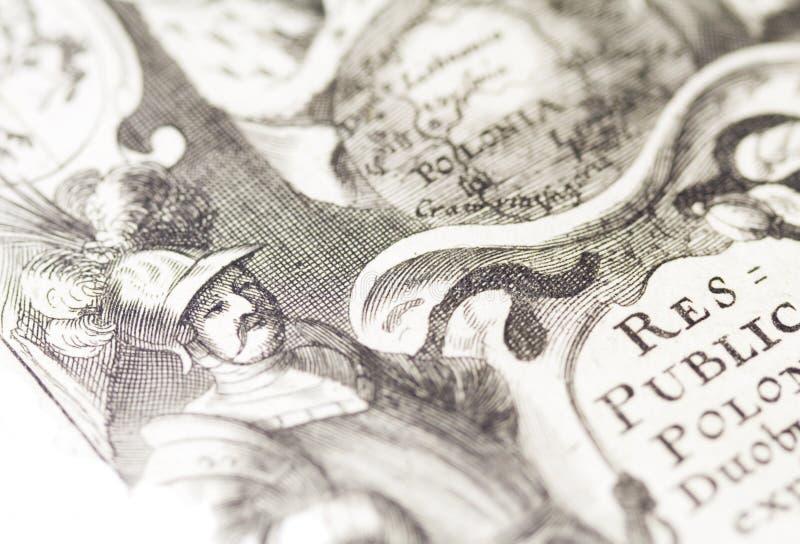 Velho-mapa fotografia de stock royalty free