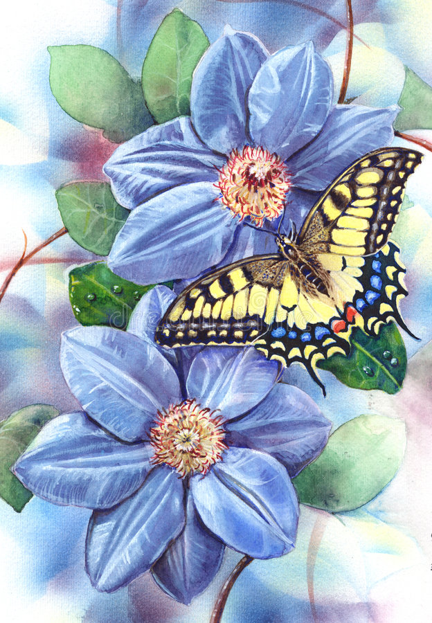 Velho Mundo Swallowtail ilustração stock