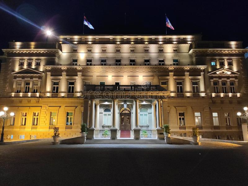 Velho palácio de Belgrado Sérvia imagens de stock royalty free