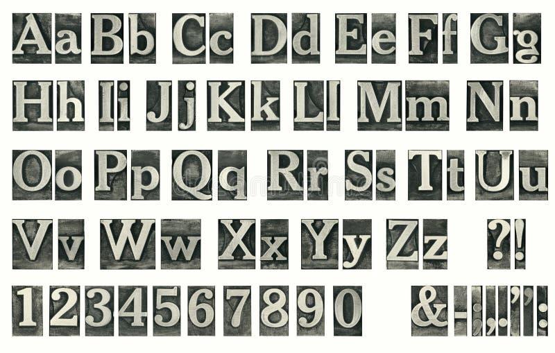 Velho typeset ilustração stock