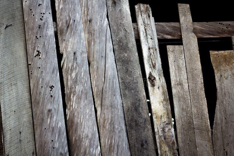 Velho vertical de madeira Venezianas de madeira velhas recuperadas Backgr gasto rústico fotografia de stock