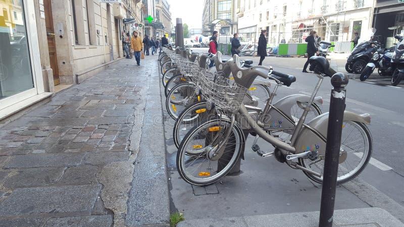 Velib à Paris 2017 photos stock