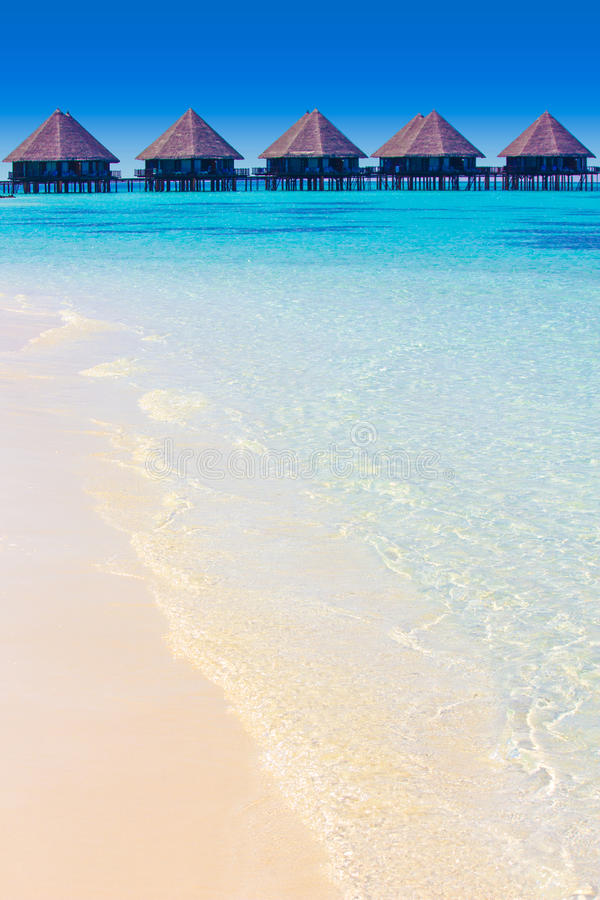 Velidhu in The Maldives, Eden on Earth stock image