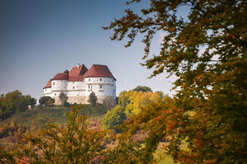 Veliki Tabor castle in Zagorje. A view of the Veliki Tabor fortress in Zagorje, Croatia royalty free stock photos
