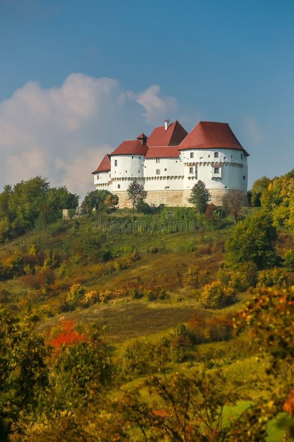 Veliki Tabor castle in Zagorje. A view of the Veliki Tabor fortress in Zagorje, Croatia stock photos