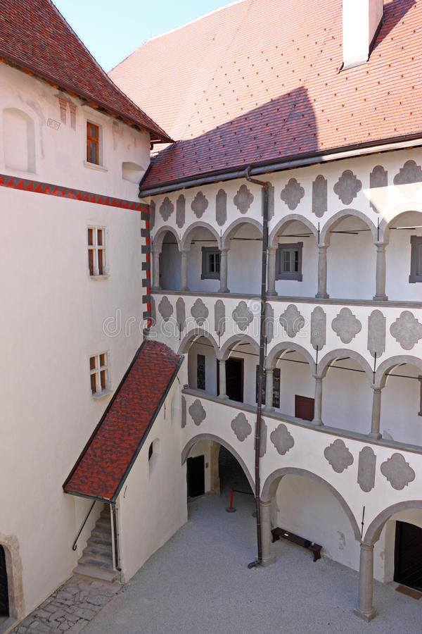 Veliki Tabor, fortress. And museum in northwest Croatia, ild medieval castle yard, dating from the 12th century stock image