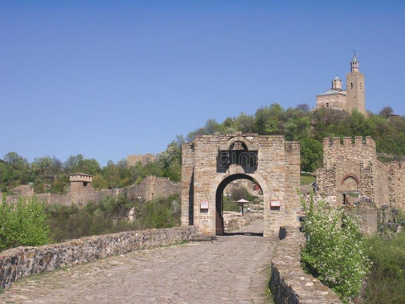 Veliko Tarnovo, Bulgaria. The Tzarevetz Castle stock photo