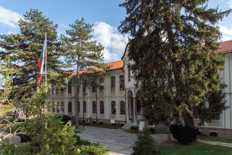 VELIKO TARNOVO, BULGARIA - 9 APRIL 2017: Museum Revival and Constituent Assembly in city of Veliko Tarnovo. Bulgaria stock photography