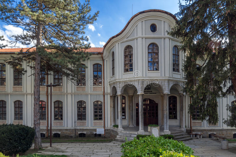 VELIKO TARNOVO, BULGARIA - 9 APRIL 2017: Museum Revival and Constituent Assembly in city of Veliko Tarnovo. Bulgaria royalty free stock photography