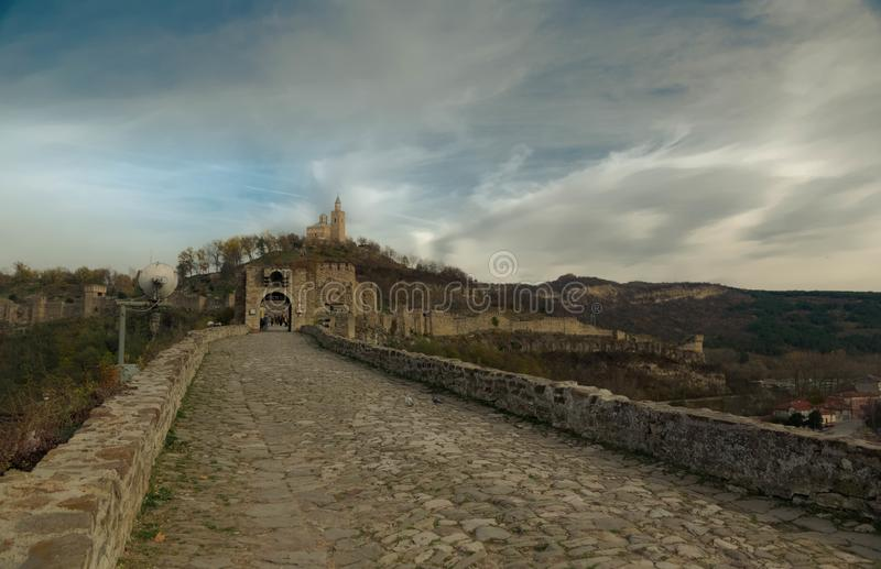 When in Veliko Tarnovo in Bulgaria stock photography