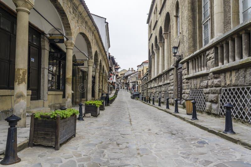VELIKO TARNOVO, BULGARIJE - APRIL 03, 2015: De Oude Stad van Velik royalty-vrije stock afbeelding