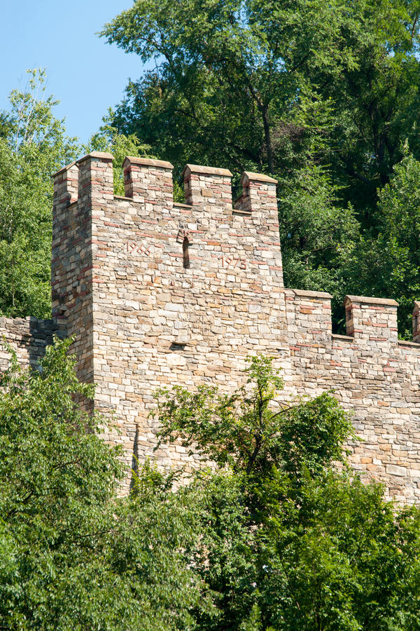 Veliko Tarnovo. Fortress tower in Museum Reserve Tsarevets royalty free stock image