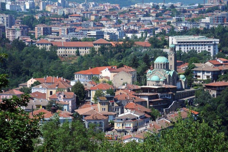 Veliko Tarnovo i katedra zdjęcia stock