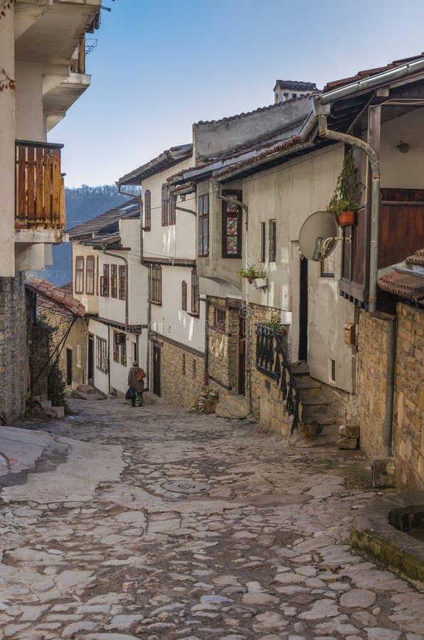 Veliko Tarnovo medieval street stock photo