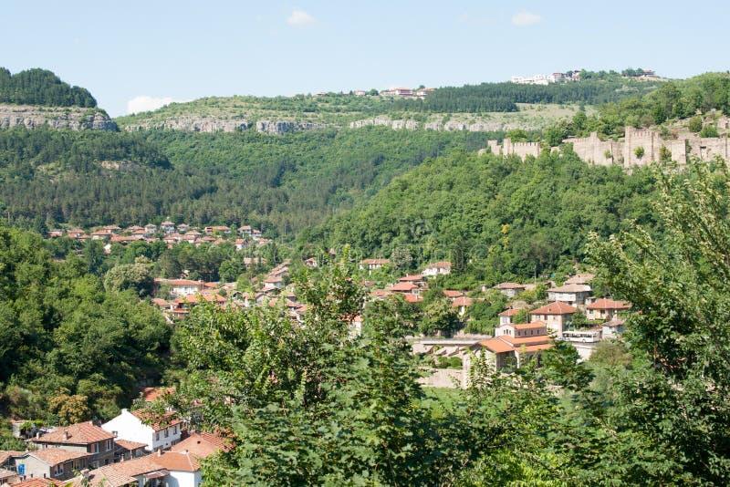 Veliko Tarnovo Stary miasteczko od ramparts zdjęcie royalty free