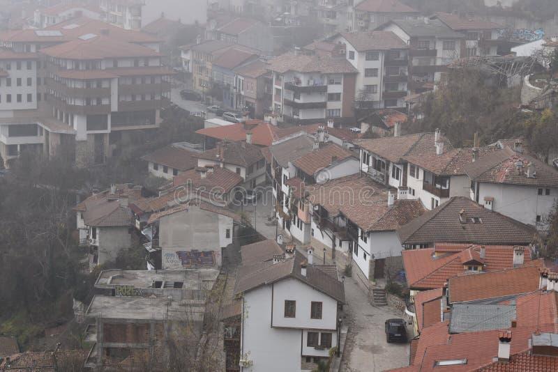 Veliko Turnovo, Bulgária Uma vista foto de stock