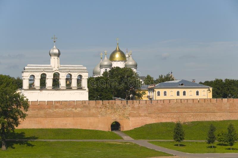 Veliky Новгород Кремль стоковые фотографии rf