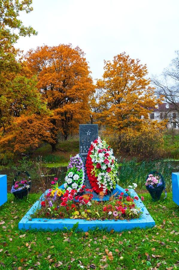 Veliky Новгород Россия Массовое захоронение советских солдат умерло во время Великой Отечественной войны 1941-1945, января 1944 стоковые изображения