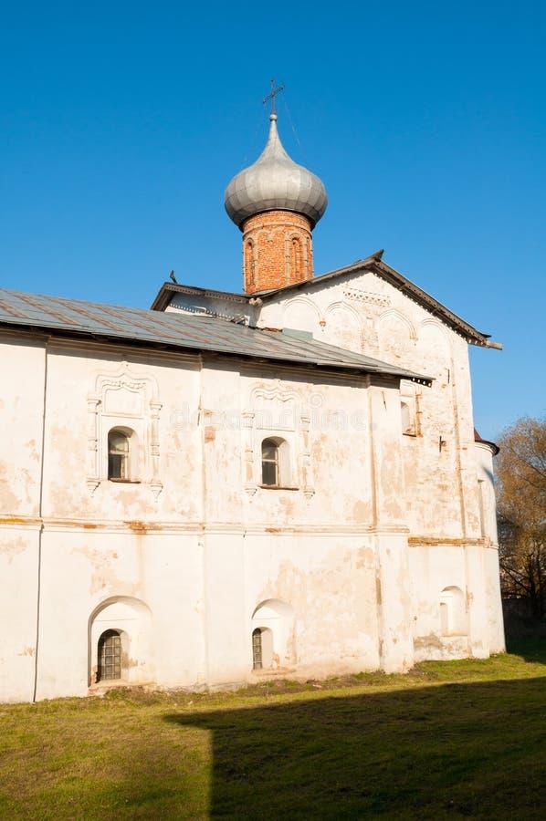 Veliky Novgorod, Ρωσία Υπόθεση της εκκλησίας της Virgin, μοναστήρι Derevyanitsky στα περίχωρα Veliky Novgorod στοκ εικόνες