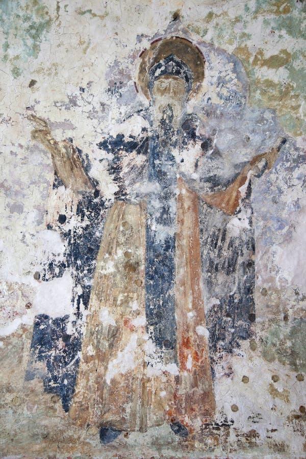 Veliky Novgorod Cattedrale di Znamensky del XVII secolo Affreschi immagini stock