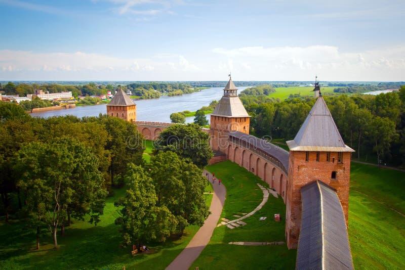 Veliky Novgorod, der Kreml stockbilder