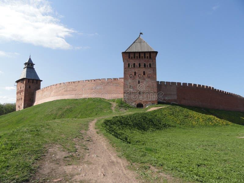 Veliky Novgorod het Kremlin stock afbeeldingen