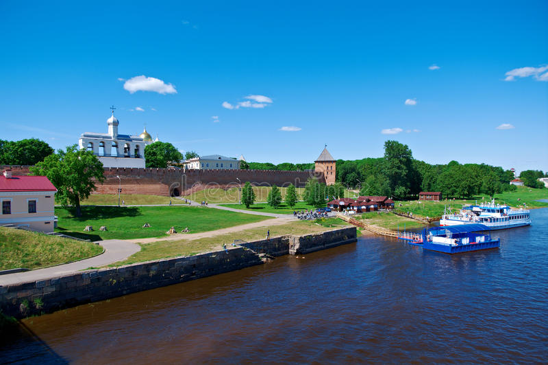 Veliky Novgorod.Novgorod Kremlin. Russia stock image