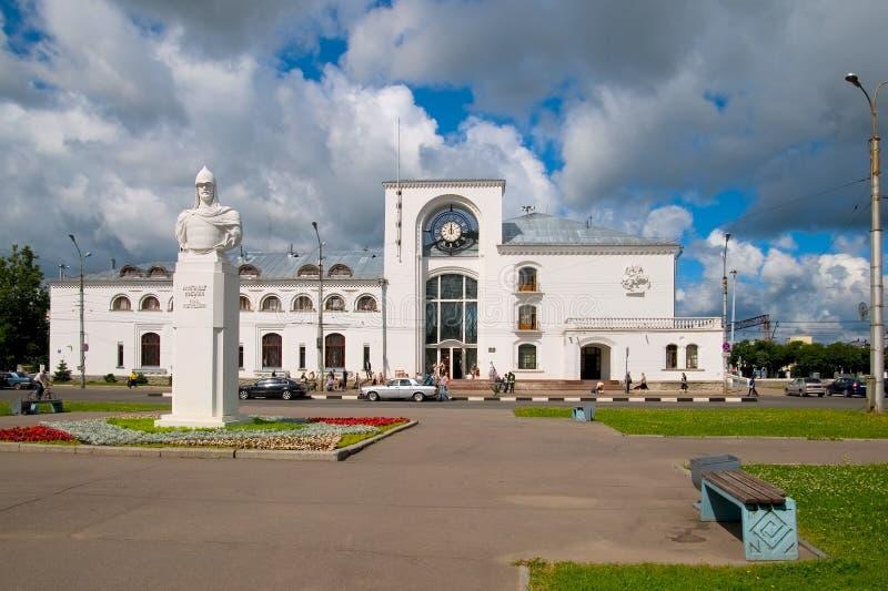 veliky przypuszczenia novgorod aukcyjny kościelny Rosja Aleksander Nevsky rzeźba obraz royalty free