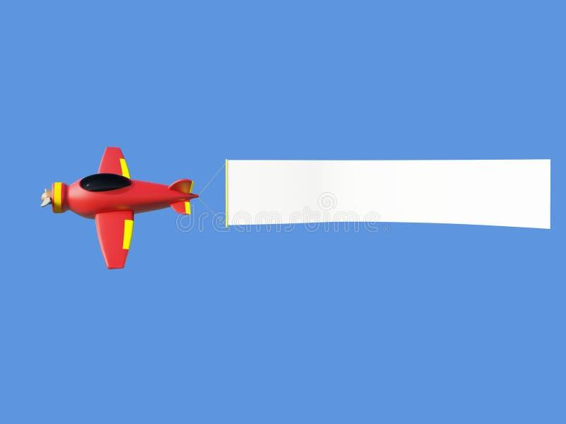 Velivoli che tirano la bandiera della pubblicità fotografie stock libere da diritti