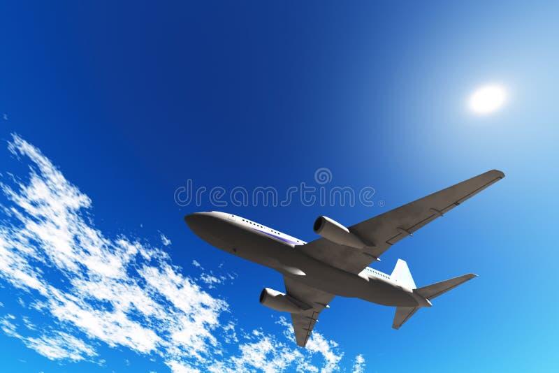 Velivoli in cielo blu fotografia stock libera da diritti