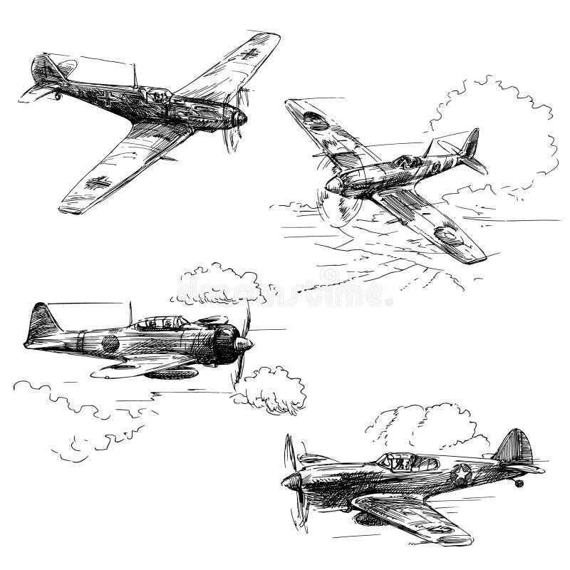 Velivoli di guerra mondiale 2 royalty illustrazione gratis