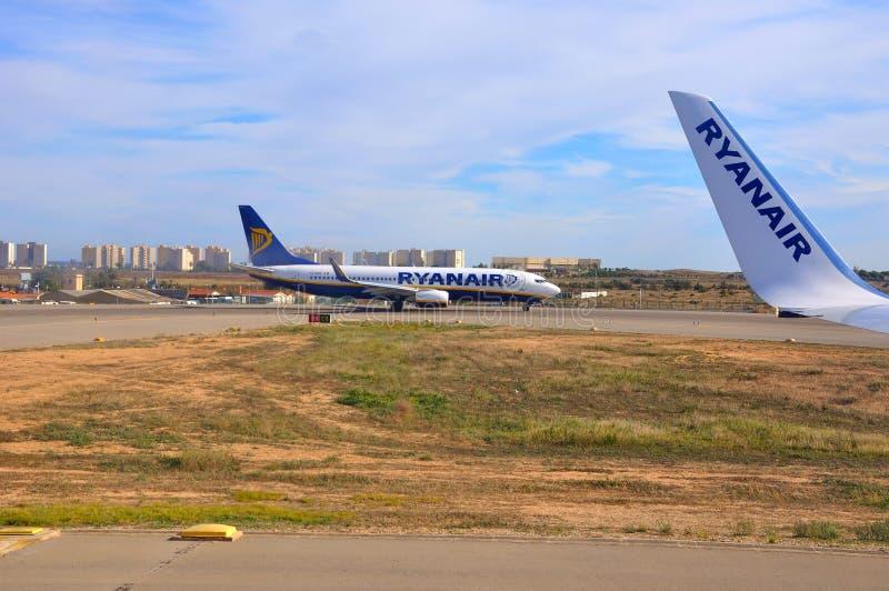 Velivoli di Ryanair immagine stock libera da diritti