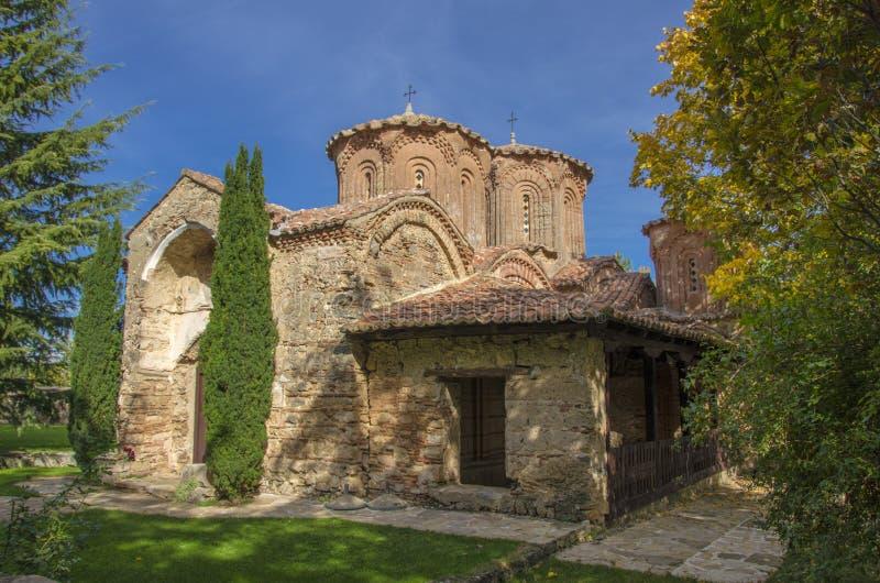 Veljusa修道院,斯特鲁米察,马其顿 库存图片