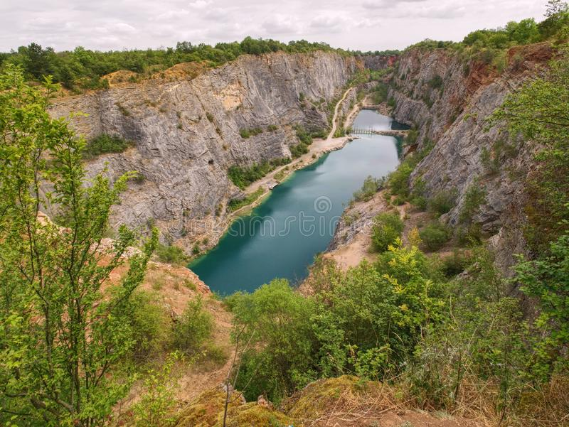 Velka Amerika is dolomite quarry for cement production royalty free stock photography