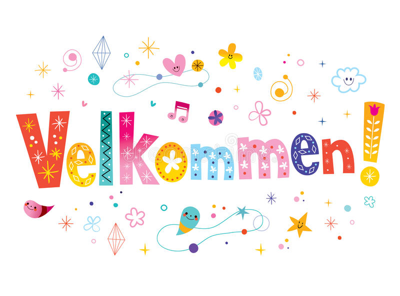 Velkommen -在丹麦语语言的欢迎 库存例证