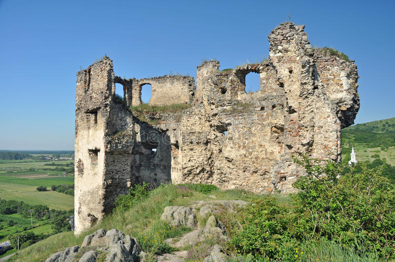 Velky Kamenec castle ruins royalty free stock photography