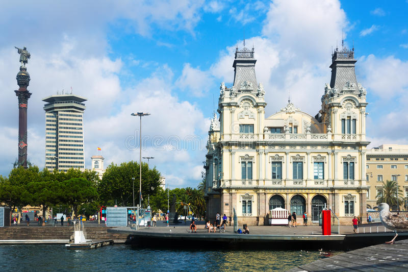 vell barcelona гаван Испании стоковая фотография