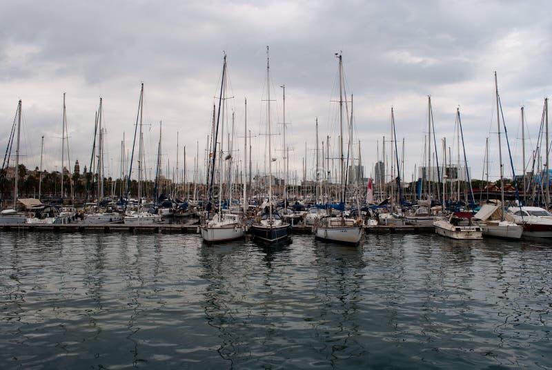Vell portuário em Barcelona foto de stock royalty free