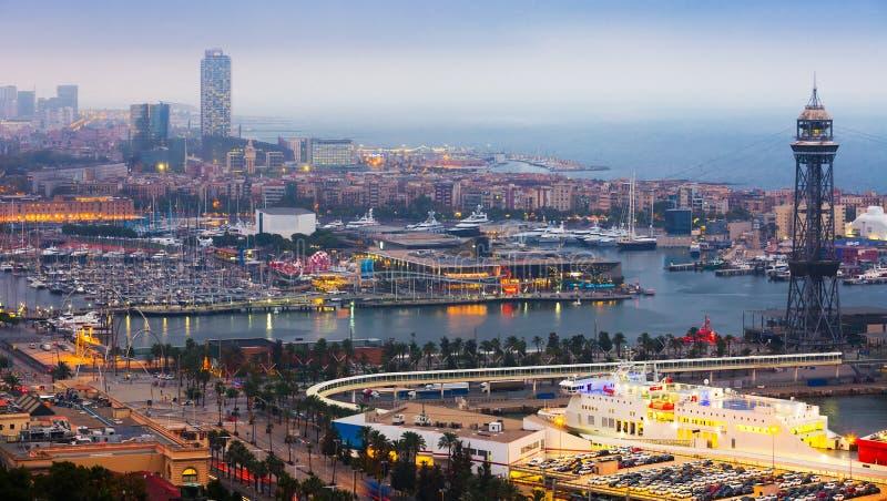 Vell portuario en Barcelona fotografía de archivo libre de regalías