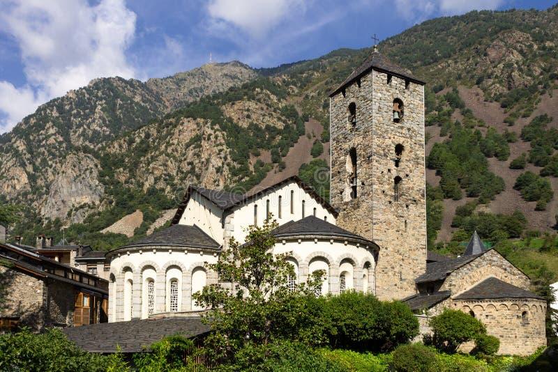 Vella för Sant Esteve D `-Andorra la kyrka royaltyfri bild