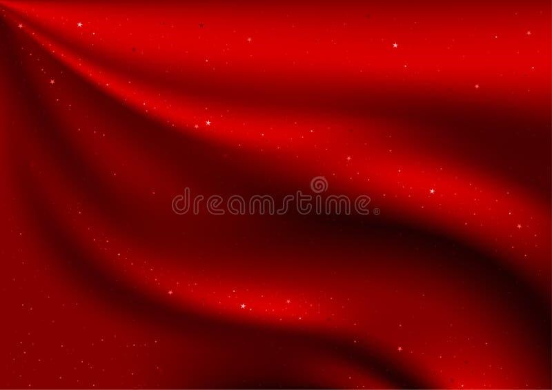 Velluto e stelle rossi royalty illustrazione gratis