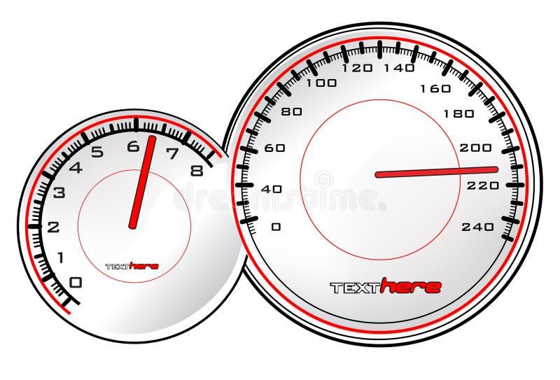 Velocímetro stock de ilustración