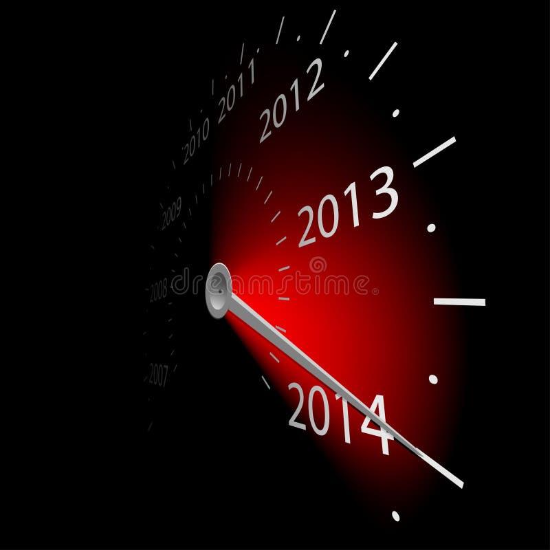 Velocímetro con la fecha del año libre illustration