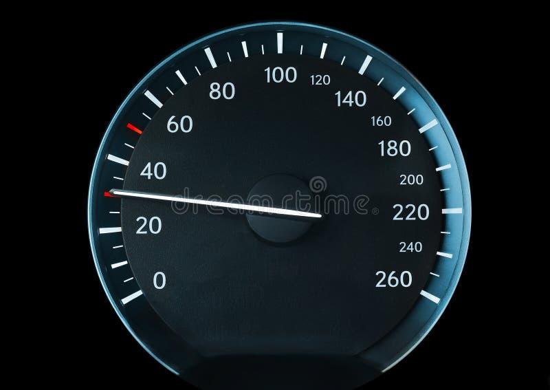 Velocímetro de um carro fotografia de stock royalty free