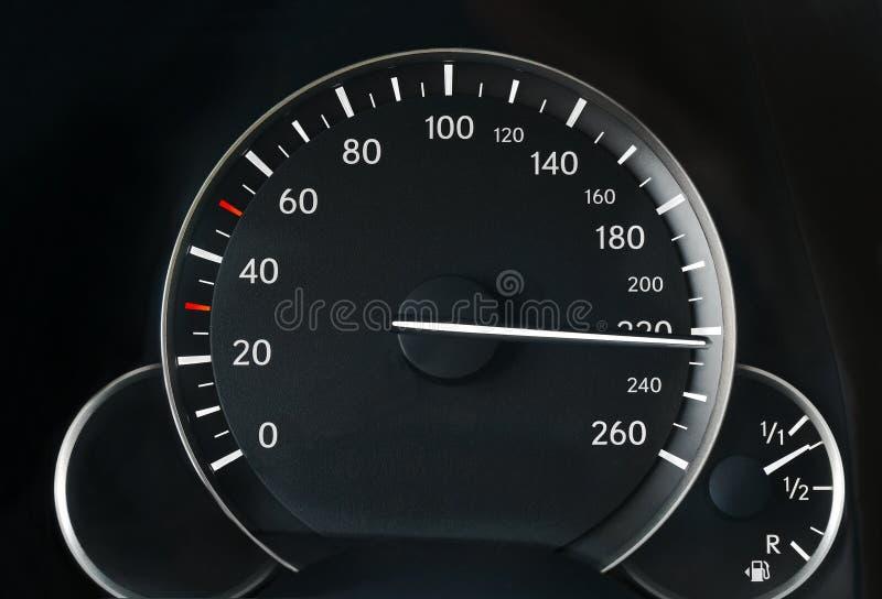 Velocímetro de um carro foto de stock