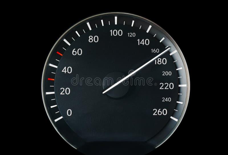 Velocímetro de um carro imagem de stock royalty free