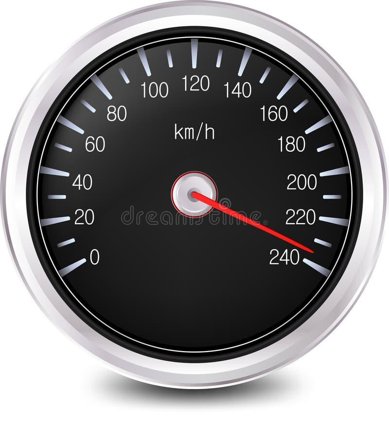 Velocímetro Del Automóvil. Vector Foto de archivo libre de regalías
