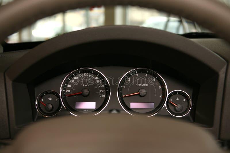 Velocímetro del coche foto de archivo