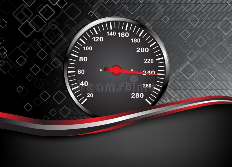 Velocímetro del coche del vector. Fondo abstracto stock de ilustración