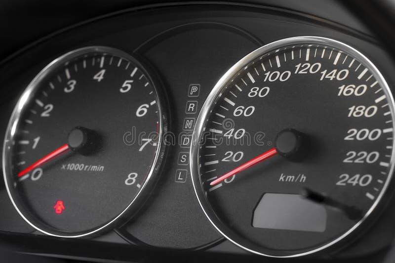 Velocímetro do automóvel imagens de stock